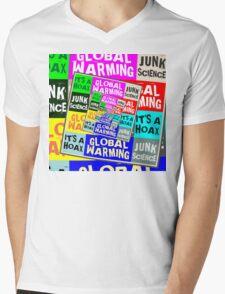 Global Warming Hoax Mens V-Neck T-Shirt