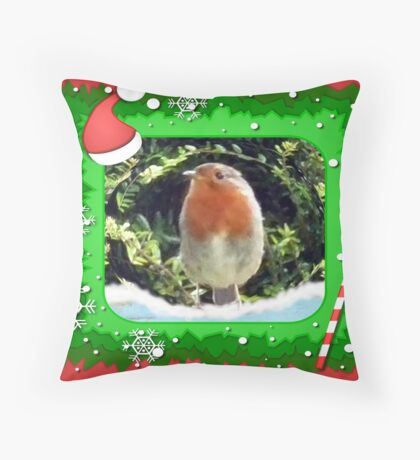 Where Are Those Youngsters.Christmas card Throw Pillow