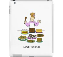 Love to bake, lady with cakes. iPad Case/Skin