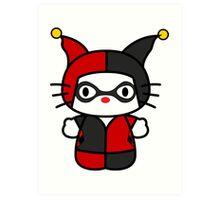Hello Kitty - Harley Quinn Art Print