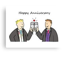 Gay male Happy Anniversary Canvas Print
