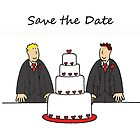 Gay male civil union/wedding save the date. by KateTaylor