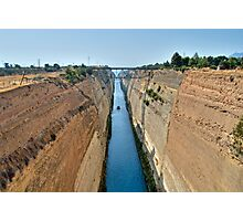 Corinth Canal Photographic Print