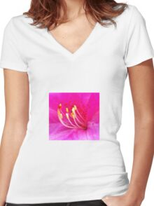 Floral Refresh Women's Fitted V-Neck T-Shirt