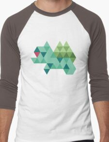 Tri-Bulbasaur Men's Baseball ¾ T-Shirt