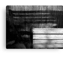 Bench & Shadow Canvas Print