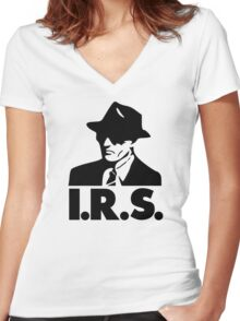 I.R.S. Records Women's Fitted V-Neck T-Shirt