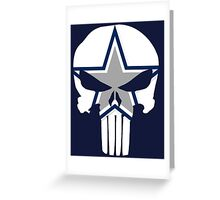 Cowboys Punisher Skull Greeting Card