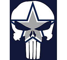 Cowboys Punisher Skull Photographic Print