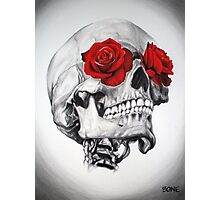 Rose Eye Skull Photographic Print