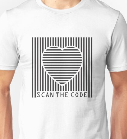 scan the love code Unisex T-Shirt