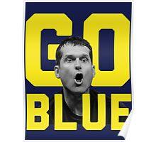 GO BLUE - Harbaugh  Poster