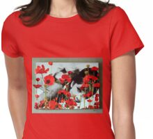 Audrey in Poppies Womens Fitted T-Shirt