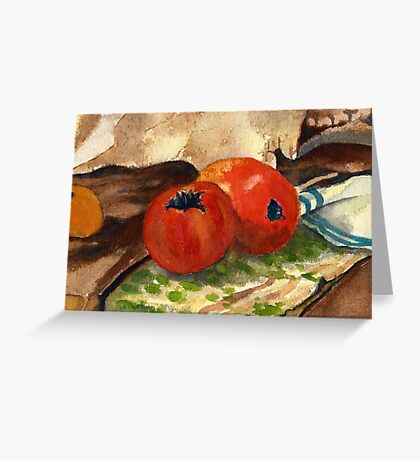 Vegetables wash painting Greeting Card