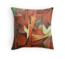 """Foxes"" -  Homage to Franz Marc (1913)     Throw Pillow"