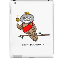 Queen Owl-izabeth iPad Case/Skin