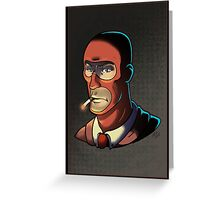 Red Spy! Print Greeting Card