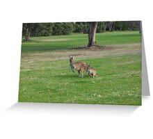 Roos on the Green Greeting Card