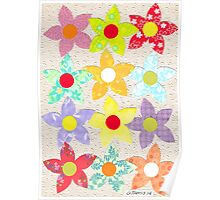 DECORATIVE FLOWERS Poster