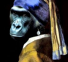 Gorilla With A Pearl Earring by SuddenJim