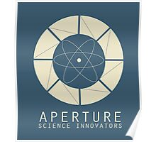 Aperture Science Old Logo With Text Poster