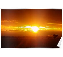 Sunset on the Northern Plains Poster
