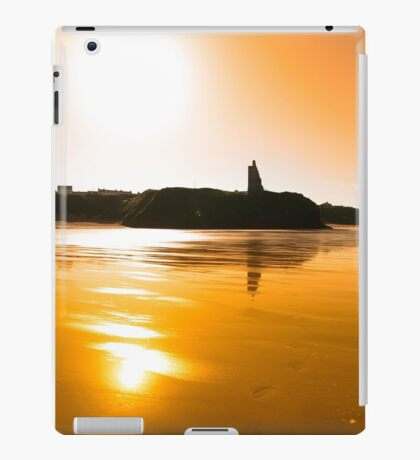 sunset view of the castle beach and cliffs in Ballybunion iPad Case/Skin