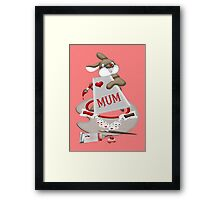 Rabbit Artist Framed Print