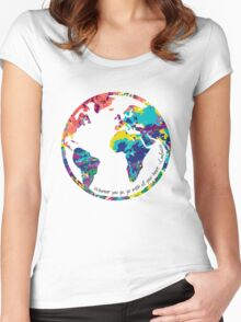 Go With All Your Heart - World Women's Fitted Scoop T-Shirt