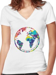 Go With All Your Heart - World Women's Fitted V-Neck T-Shirt
