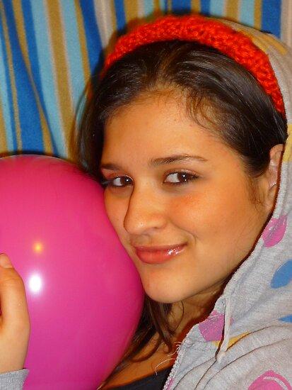 Pink Balloon by karenuk1969