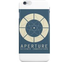 Aperture Science Old Logo With Text iPhone Case/Skin