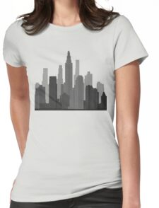 Downtown Grey Womens Fitted T-Shirt