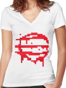 Hotline Miami: 50 Blessings logo Women's Fitted V-Neck T-Shirt