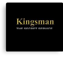 Kingsman Title Gold Typography Canvas Print