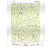 Maine USGS Historical Map Waterboro 103080 1983 24000 Poster