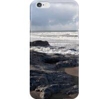 the black rocks on Ballybunion beach iPhone Case/Skin