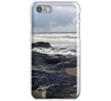 the black rocks on Ballybunion beach iPhone Case/Skin