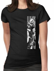 Troy White Womens Fitted T-Shirt
