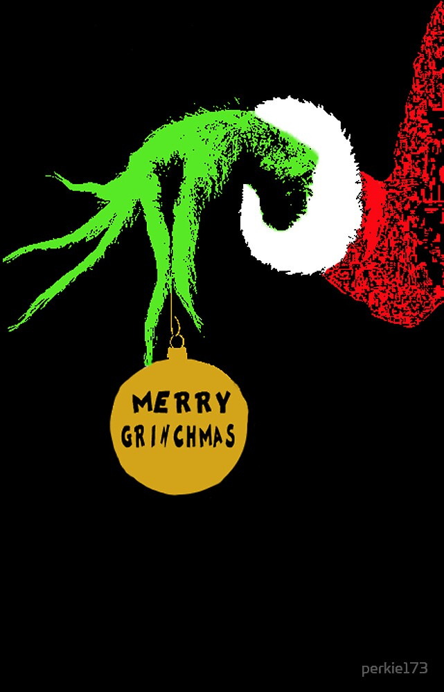 The Grinch Christmas Card by Laura Ginn