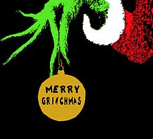 The Grinch Christmas Card by Laura Ginn