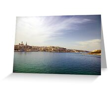 Valletta from Sliema Harbour Greeting Card