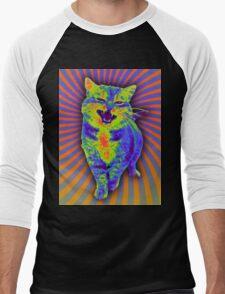 Psychedelic Kitty (Remaster) Men's Baseball ¾ T-Shirt