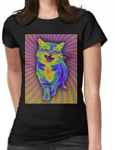 Psychedelic Kitty (Remaster) Womens Fitted T-Shirt