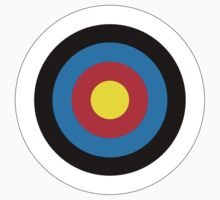 Bulls Eye, Archery, Right on Target, Roundel, Shooting, on White by TOM HILL - Designer