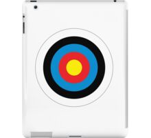Bulls Eye, Archery, Right on Target, Roundel, Shooting, on White iPad Case/Skin