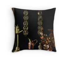 Brass and Copper Throw Pillow