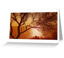 Sunset at Cap Martin  Greeting Card