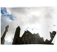 the historic rock of Cashel landmark Poster