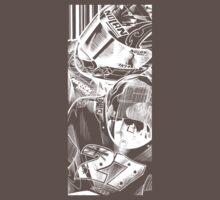 Casey Stoner White- Large Print by quigonjim